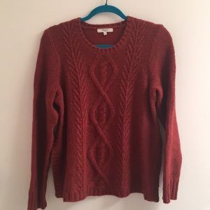 Madewell crew neck sweater with side slit